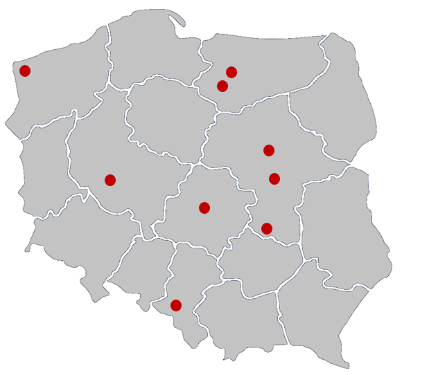 Mapa punktów dot map