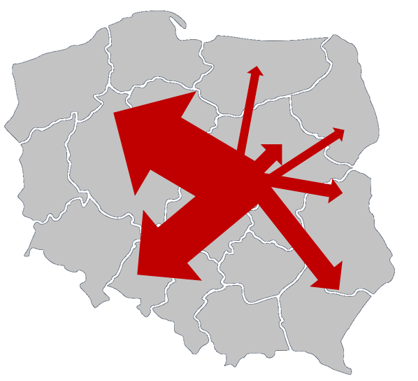 Mapa przepływów (ang. flow map)